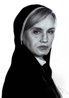 American Horror Story - Sister Jude drawing by Jossluka