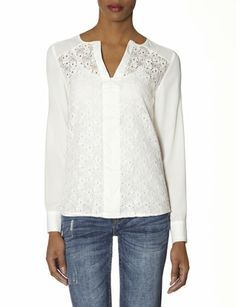 OBR Lace Front Layering Blouse from THELIMITED.com #TheLimited