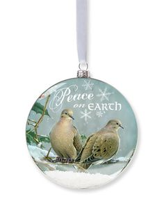This 'Peace On Earth' Dove Snow Globe Ornament is perfect! #zulilyfinds