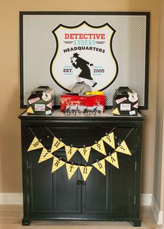 Detective Themed Birthday Party