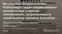 """""""Ministerstwo Bezpieczeństwa Publicznego"""" på @Wikipedia: Workers Union"""