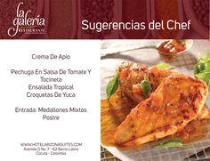 Nada mejor que almorzar en un lugar tranquilo, moderno y con el mejor servicio, ven y disfruta las #Sugerenciasdelchef en el Restaurante la Galería en la Av 0 # 7 - 62 Barrio latino #cucuta #colombia