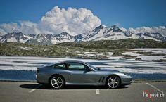 Two beauties in #Switzerland: #GrimselPass and a #Ferrari #Maranello 550! Paradise