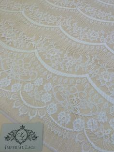 Offwhite lace fabric offwhite chantilly lace by ImperialLace