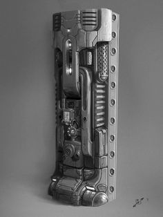 sci-fi pillar concept by natetheartist