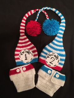 Dr. Seuss Crochet Hats and Diaper Cover