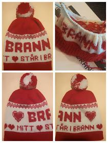Babsy design YNKA ( you`ll never knit alone ): GRATIS Brann lue oppskrift Valentine's Day, Mittens, Liverpool, Beanie, Barn, Knitting, Never, Pattern, Design