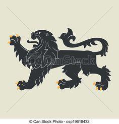 Vector - Heraldic lion