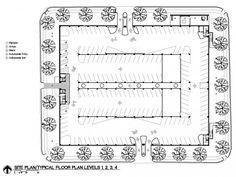 Gallery of Car Park One / Elliott + Associates Architects - 12 Parking Plan, Parking Building, Car Parking, Parking Space, Architecture Plan, Landscape Architecture, Landscape Design, Hospital Architecture, Car Park Design