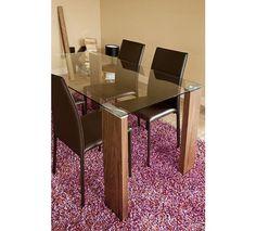 Mesa de comedor rectangular de 150cm x90cm disponible en blanco o nogal