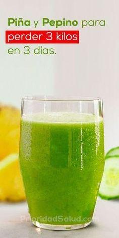 Excelente mezcla de piña y pepino para perder peso rápida y saludablemente.