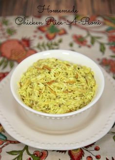 Homemade Chicken Rice-A-Roni - measure out several batches at a time & store in ziplock bags for a quick side dish