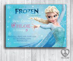 #Disney #Frozen Birthday Party Invitation  5x7 Printable by PeaceLovePrint #etsy