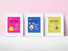 Girls Bathroom Decor Busy Bee By SimplyLoveCreations