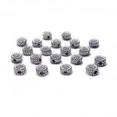 22 mm 5pcs ovale à facettes verre cristal Spacer Loose Beads Fashion Jewelry Making