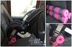 How-To: Use a pool noodle to adjust the recline of a rear facing car seat