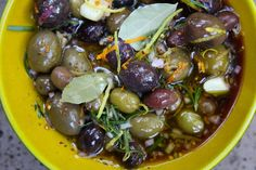 dollop: {nibble} warm marinated olives