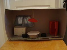 huiskamer van schoendoos