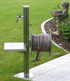 Wasserstelle im Garten (DIY - Holz statt Edelstahl)