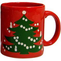 Waechtersbach Christmas Tree Glass Tumblers, SET of EIGHT, Vintage ...