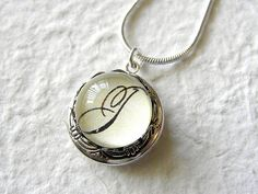 Personalized monogram locket.