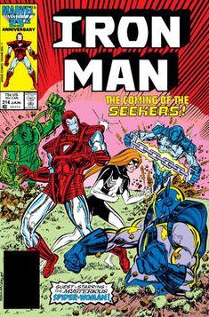Iron Man Vol 1 214   Marvel Database   Fandom Iron Man Comic Books, Marvel Comic Books, Marvel Comics, Marvel Art, Tony Stark, Caricature, Dr Octopus, Deal With The Devil, Conan The Barbarian