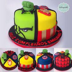 Torta Avengers Medellín by Dulcepastel.com #Hulk 👊 #Ironman 💫💥#Captainamerica ⭐️#Spiderman🕷 🌃 #capitanamerica 🎥🎬#superhéroes #torta #losvengadores #lapelicula🎬🎥 #cake #theavengers #theavengers2 #theavengers3d #theavengerscake #tortasmedellin #tortaspersonalizadas #tortastematicas #cupcakesmedellin #tortasartisticas #tortasporencargo #tortasenvigado #reposteriamedellin #reposteriaenvigado #redvelvet #redvelvetcake 6th Birthday Cakes, 4th Birthday Parties, Birthday Ideas, Hulk Cakes, Happy Birthday Cake Pictures, Iron Man Spiderman, Avenger Cake, Red Hulk, Avengers Birthday