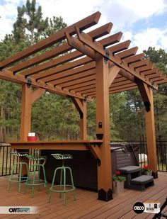 Merveilleux Great Looking Pergola Spa U0026 Bar Using OWT Hardware From OZCO! Week 8  Finalist For OZCO Cooler Contest!!!