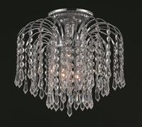 Falls Chrome Three Light 12 Inch Flush Mount With Royal Cut Clear Crystal Elegant Lighting Flush Mount Chandelier, Chandelier Lighting, Chandeliers, Semi Flush Lighting, Unique Lighting, Palace, Standard Lamps, Crystals For Sale, Clear Crystal