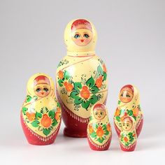 Floral Russian Shawl Nesting Doll | Floral theme | The Russian Store