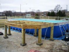 Popular Above Ground Pool Deck Ideas. This is just for you who has a Above Ground Pool in the house. Having a Above Ground Pool in a house is a great idea. Tag: a budget small yards Above Ground Pool Landscaping, Above Ground Pool Decks, Backyard Pool Landscaping, In Ground Pools, Piscine Diy, Blow Up Pool, Pool Deck Plans, Cheap Pool, Floating Deck