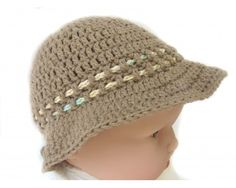 "KSS Taupe Crocheted Cotton Sunhat 15-17"" (1-2 Years)"