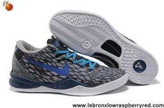 Buy New Nike Kobe 8 System Year Of The Snake Dark gray blue 555035 106 Sports Shoes Shop
