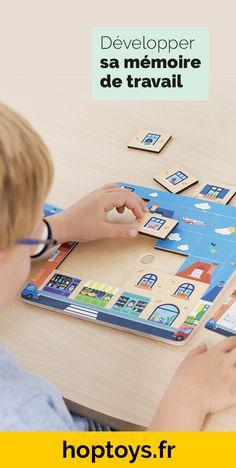 La mémoire de travail se définit comme la faculté de retenir temporairement une information quand le cerveau est occupé à faire une autre tâche. Dans notre quotidien cette mémoire est indispensable ! Elle permet de comprendre les textes, résoudre les problèmes, calculer mentalement, écrire, se concentrer ou encore apprendre une autre langue. Une importance donc capitale, c'est pourquoi dans cette sélection vous trouverez nos jeux et jouets pour simuler cette mémoire. Jouer, Information, Games, Phone, Comme, Logo, Ideas, Adhd Activities, Working Memory