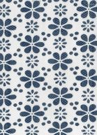Maritime Club Fabric- Knit Floral Mesh Navy