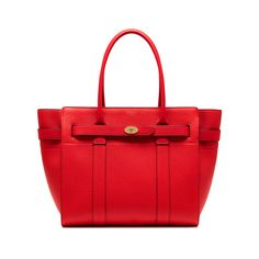 844907fd0d0 Shop the Zipped Bayswater in Fiery Red Small Classic Grain Leather at  Mulberry.com.