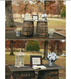 Outside wedding guest book idea