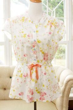 Vintage Fabric Marigold Top - Blank Slate Patterns: