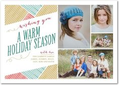 Warm Woven Wishes - Flat Holiday Photo Cards in Gilded or Charcoal | Good on Paper