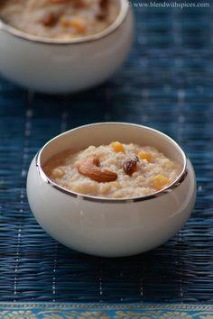 Godhuma Rava Pongali Recipe - Wheat Rava Jaggery Pongal - Varalakshmi Vratham Naivedyam Recipes - Blend with Spices Indian Beef Recipes, Goan Recipes, Tart Recipes, Sweet Recipes, Baking Recipes, Snack Recipes, Dessert Recipes, Great Desserts, Köstliche Desserts