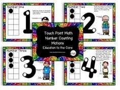 Education to the Core: Counting Points and Motions to supplement your touchpoint math.  Practice 1 to 1 correspondence with motions to go with the number points. $