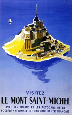 Villemot 1956 Visitez le Mont Saint-Michel | Vintage poster | http://defharo.com