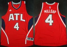 Atlanta Hawks #4 Paul Millsap Revolution 30 Swingman 2014 New Red Jersey