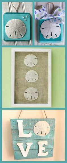 3 sand dollar crafts to make with your spring break sea shells. Learn how to mak… 3 sand dollar crafts to make with your spring break sea shells. Learn how to make these sea shell decorations and sand dollar ornaments. Sand Crafts, Seashell Crafts, Beach Crafts, Seashell Art, Crafts With Seashells, Seashell Projects, Crafts For Teens, Crafts To Sell, Arts And Crafts
