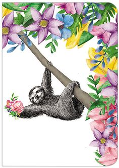 Boho Sloth Journal
