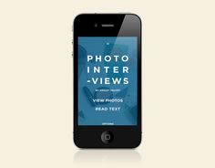 Moral Tales for iPhone by Timothy Moore, via Behance #magazine #digital #design