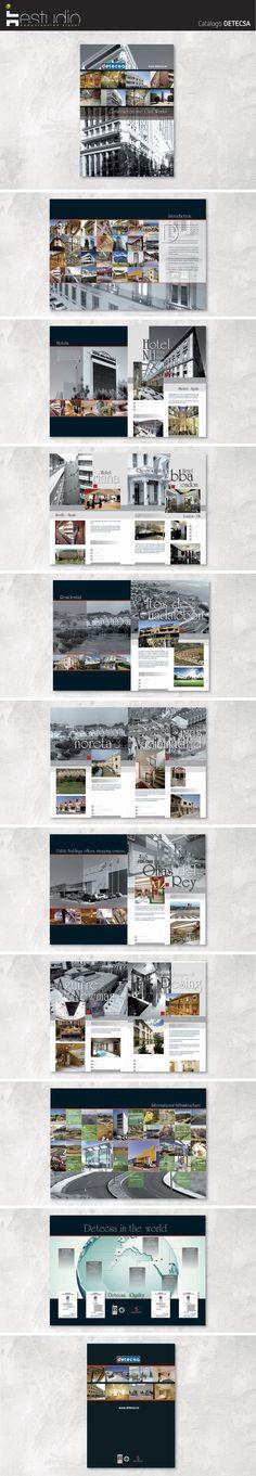 Diseño, maquetación y fotografías para Catálogo de edificación y rehabilitación de DETECSA