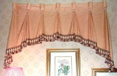 goblet pleat valance - obviously not that fabric, but that's the general pattern idea
