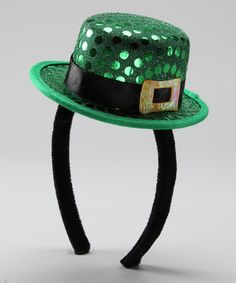 Take a look at this Elope Green Sequin Leprechaun hat Headband by Elope on #zulily today!