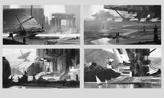 Sketches week 5 Compositions, Hueala Teodor on ArtStation at https://www.artstation.com/artwork/rPLNE